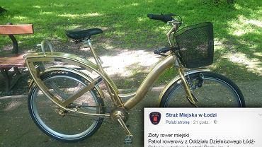 Ukradł rower i przemalował go na złoto