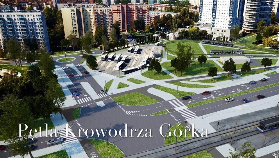 Budowa linii tramwajowej do Górki Narodowej zakłada przebudowę pętli Krowodrza Górka