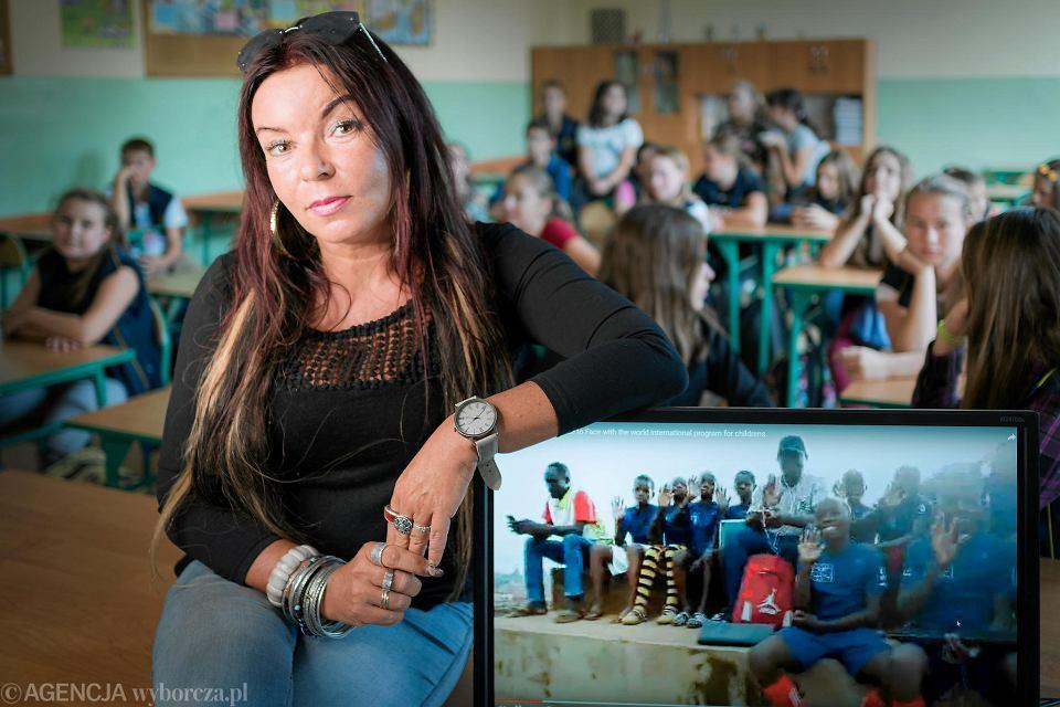 Anna Hora-Lis, nauczycielka, która prowadzi lekcje on-line ze szkołami w Afryce i Azji