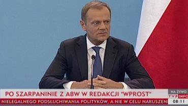 Donald Tusk nie zamierza podać się do dymisji