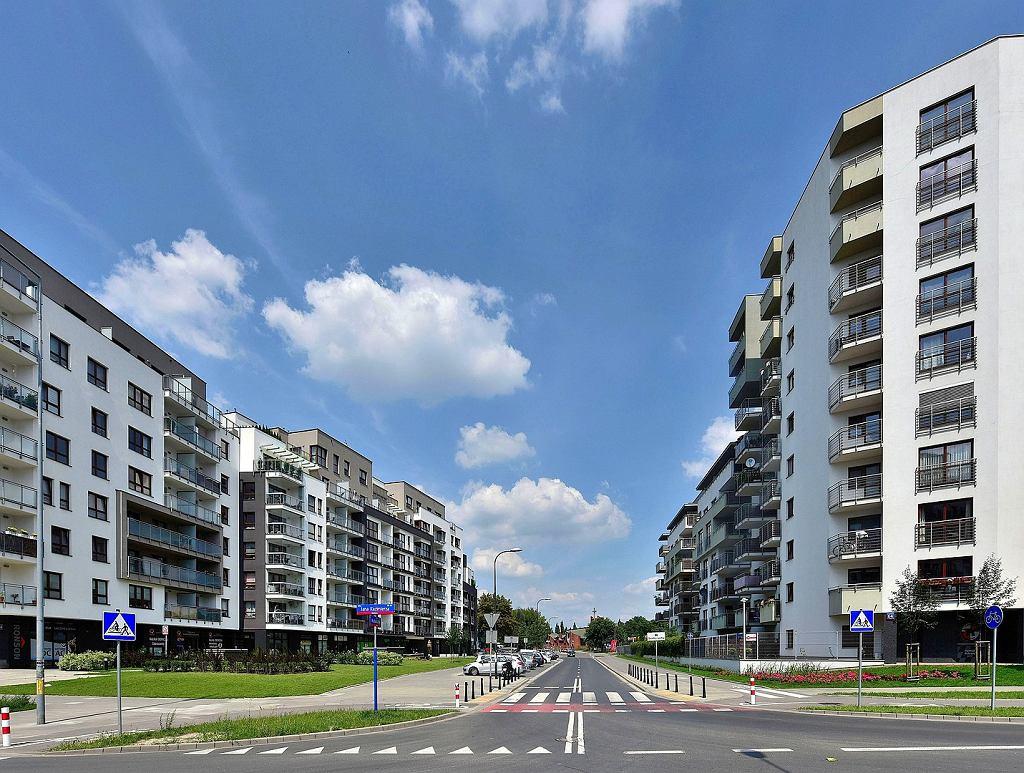 Nowa zabudowa mieszkaniowa w północnej części Odolan