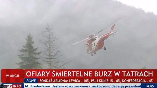 Bilans tragedii w Tatrach wciąż jest nieoficjalny. Wśród zabitych ma być 13-letni chłopiec