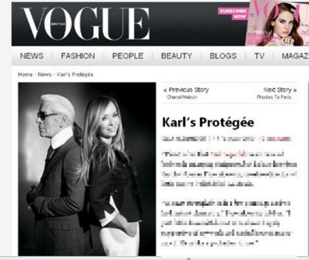 Joanna Przetakiewicz, Karl Lagerfeld