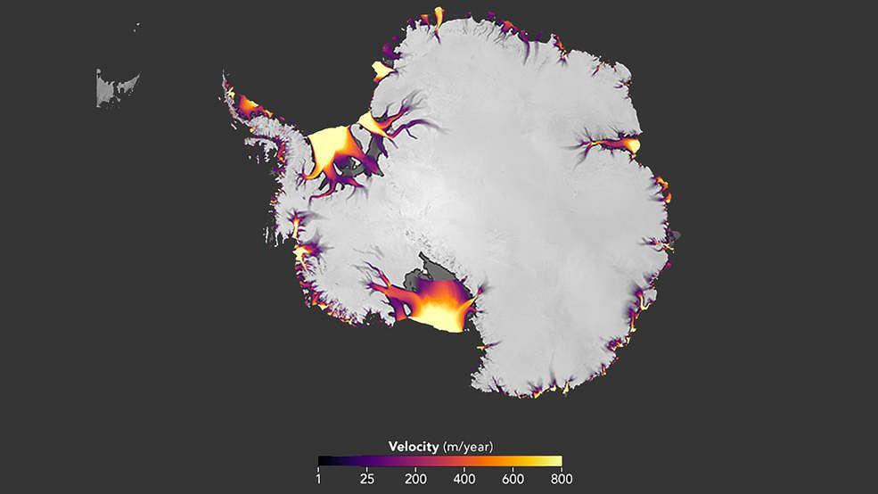 Zmiany w pokrywie lodowej na Antarktydzie