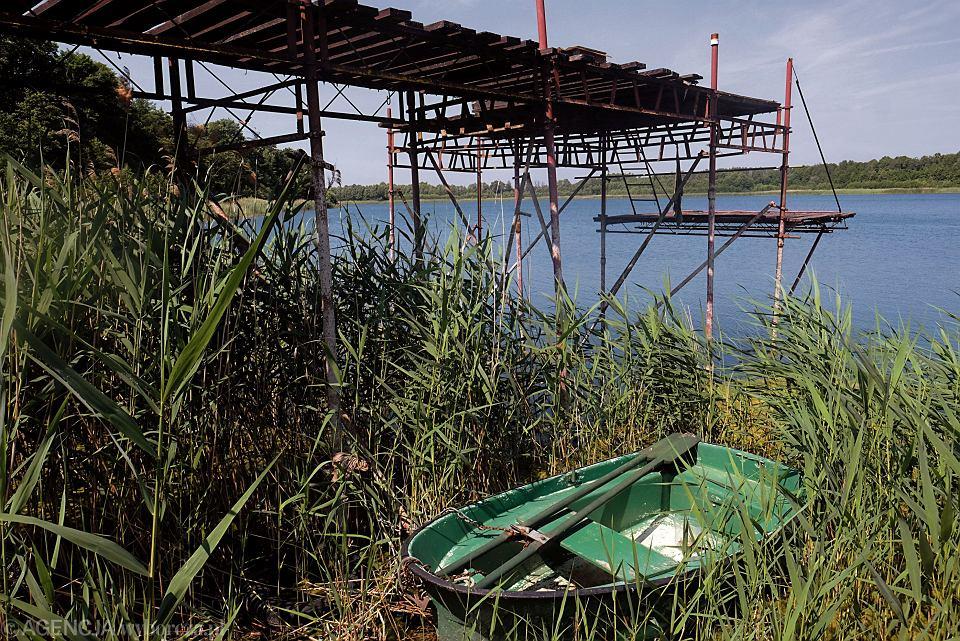 Jezioro Kownackie, przykład katastrofalnie niskiego poziomu wody na Pojezierzu Gnieźnieńskim