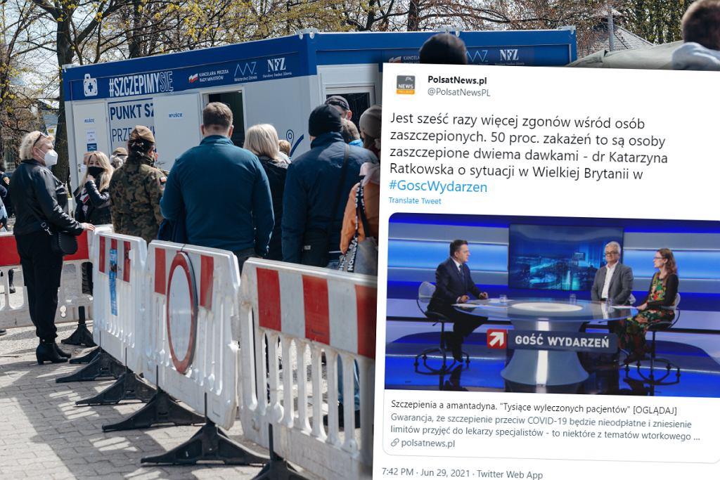 Antyszczepionkowe fake newsy w Polsat News