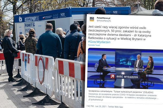 Psychiatrka głosiła w Polsat News antyszczepionowe teorie. Fake newsy szybko obalono