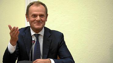 Przewodniczący Rady Europejskiej Donald Tusk przed komisją ds. afery Amber Gold. Warszawa, 5 listopada 2018