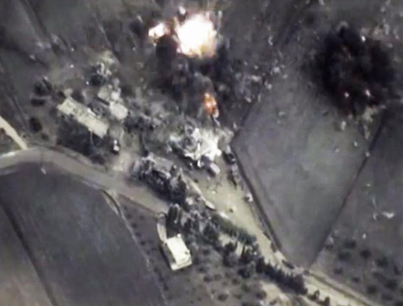Zdjęcia z nalotów opublikowane przez rosyjskie ministerstwo obrony