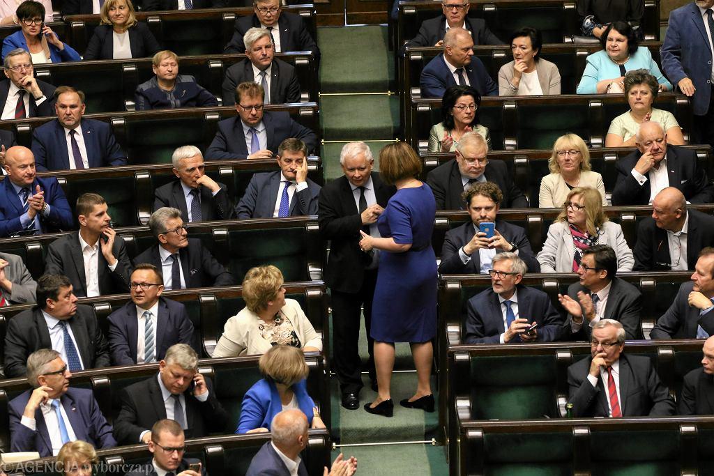 19.07.2017 r., Jarosław Kaczyński w Sejmie
