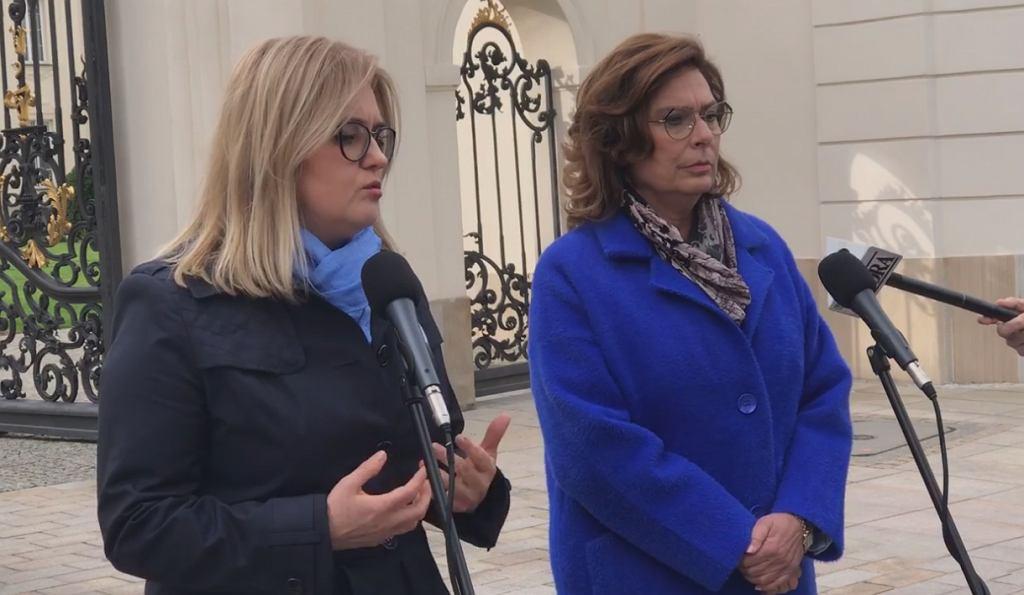 Magdalena Adamowicz na konferencji prasowej