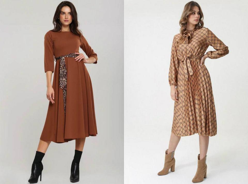 Sukienki camelowe