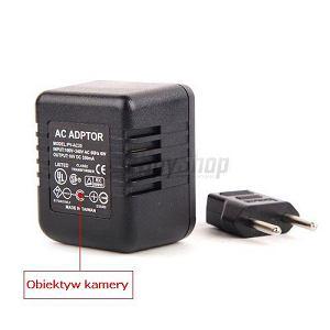 Mikro kamera ukryta w zasilaczu PV-AC20. Cena: 1090 zł, gadżety, Szpiegowskie gadżety: minikamery