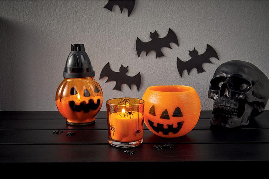 Halloweenowe świeczki z Lidla