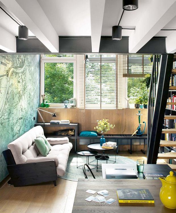 Mieszkanie z antresolą i oryginalnym muralem