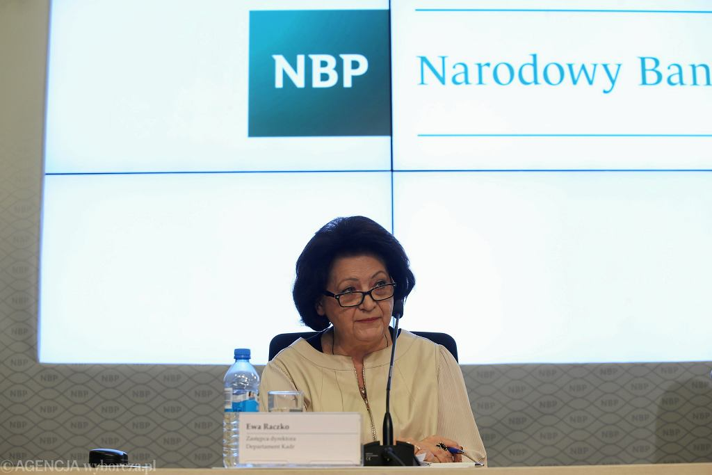 Konferencja NBP. Na zdjęciu Ewa Raczko z Departamentu Kadr