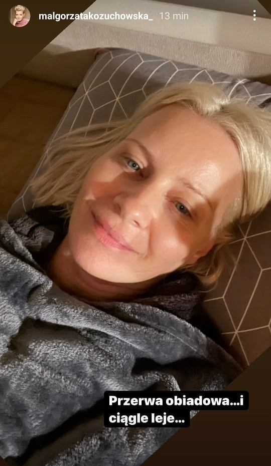 Małgorzata Kożuchowska bez makijażu