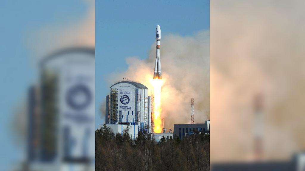 Start Rakiety Sojuz z kosmodromu Wostocznyj