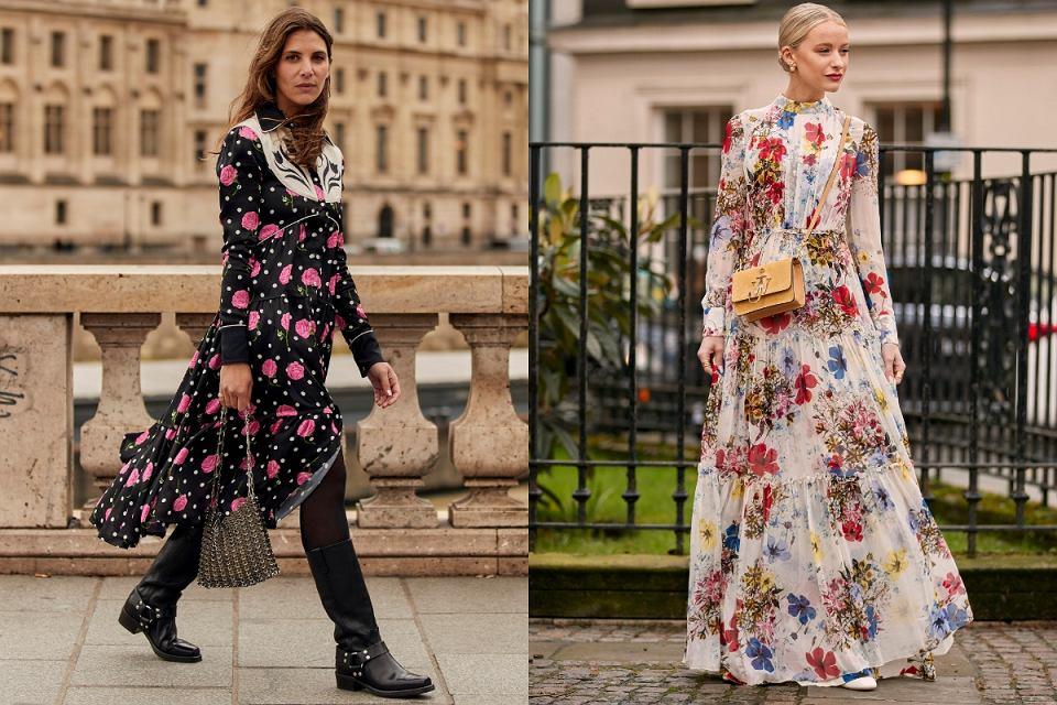 Sukienki na jesień w kwiaty