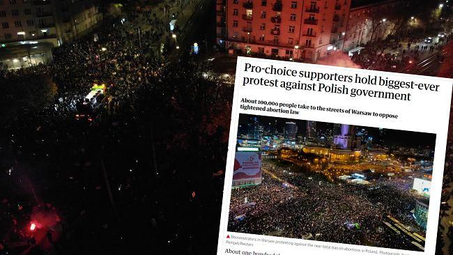 """Zagraniczne media o protestach w Polsce. """"Wylew gniewu"""", """"Największe demonstracje od upadku komunizmu"""""""