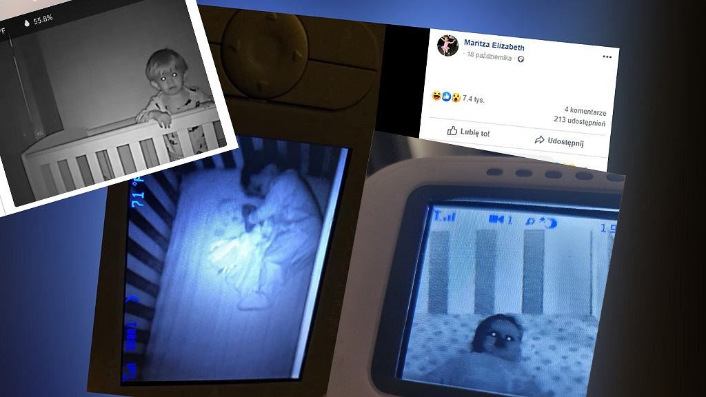 Dzieci na zdjęciach ekranu elektronicznej niani wyglądają jak 'małe demony'