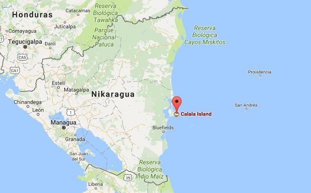 Wyspa Calala leży u wybrzeża Nikaragui w Ameryce Środkowej