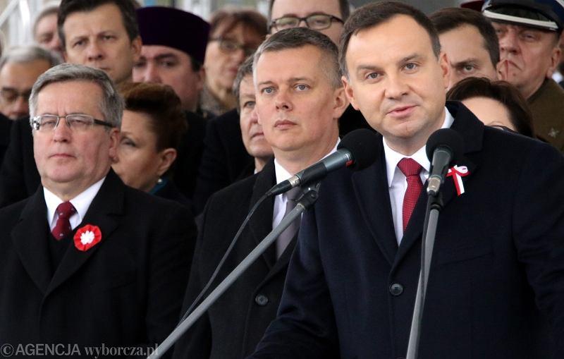 Andrzej Duda, Tomasz Siemoniak i Bronisław Komorowski
