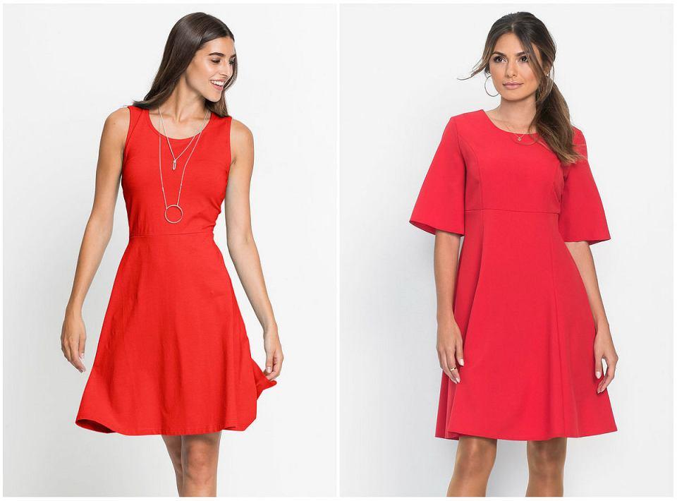 czerwone sukienki o klasycznym kroju