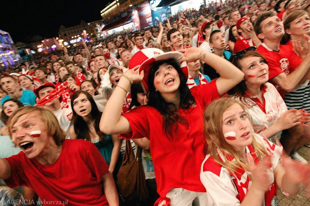 Mecz Polska-Czechy w strefie kibica