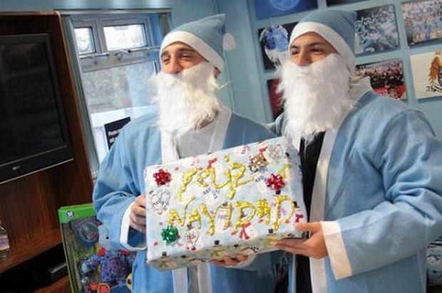 Robert Kub... A nie, to Pablo Zabaleta i Sergio Aguero w strojach niebieskich Mikołajów.