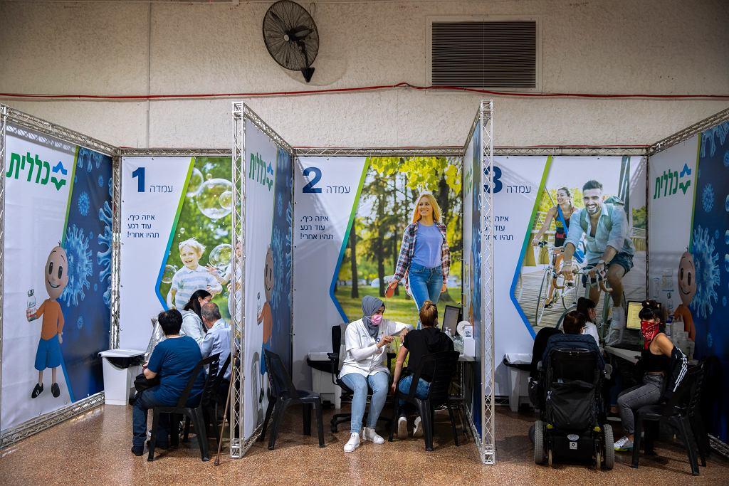 Jeden z punktów szczepień w mieście Ramat Gan w Izraelu