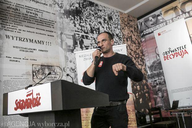 16.03.2013 Gdansk . Pawel Kukiz - Platforma Oburzonych - spotkanie w sali BHP Stoczni Gdanskiej . fot. Lukasz Glowala / Agencja Gazeta