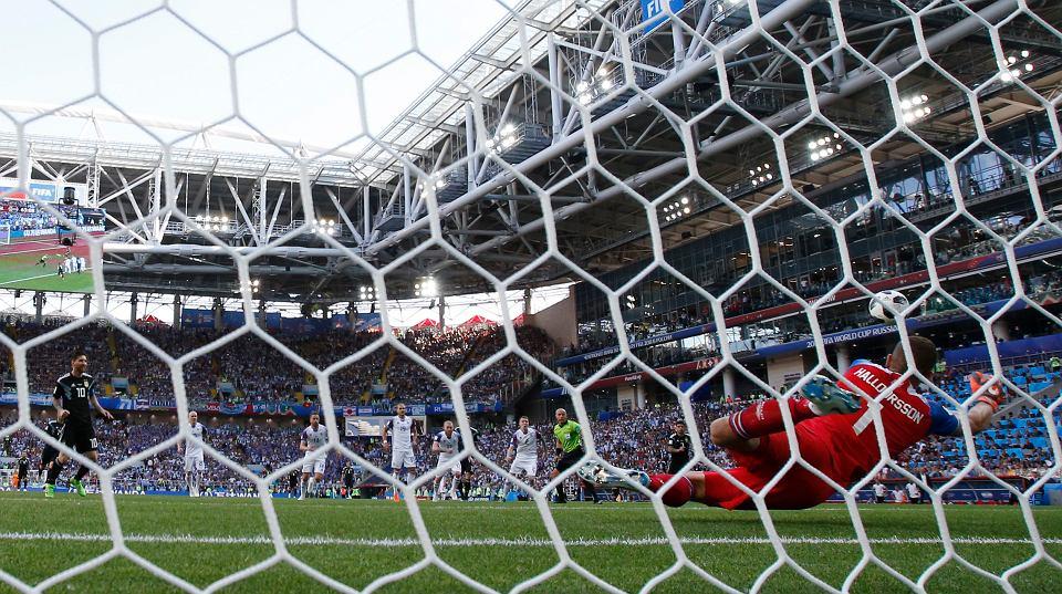MŚ 2018. Argentyna - Islandia, Leo Messi marnuje karnego