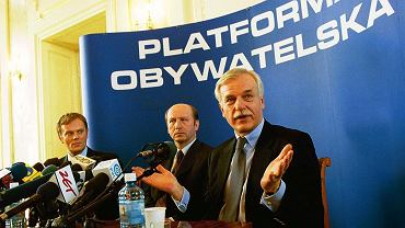 22.03.2001, Warszawa, konferencja Platformy Obywatelskiej