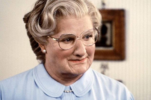 Robin Williams w filmie 'Pani Doubtfire'