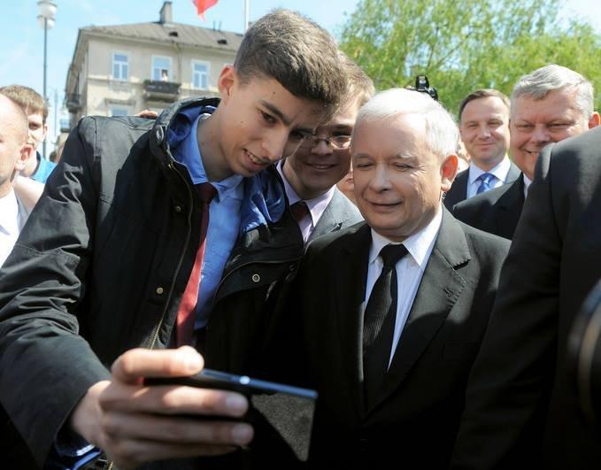 Selfie Jarosława Kaczyńskiego