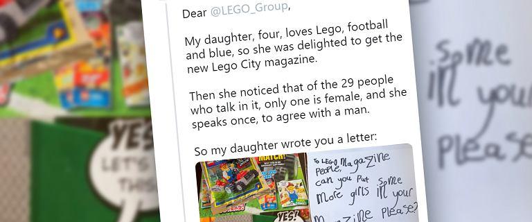 """Czterolatka napisała list do Lego, apelując o """"więcej dziewczyn"""". Firma odpowiedziała"""