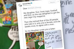 """Czterolatka napisała list do Lego, prosząc o równe traktowanie kobiet i mężczyzn. """"Możemy się od niej wiele nauczyć"""""""