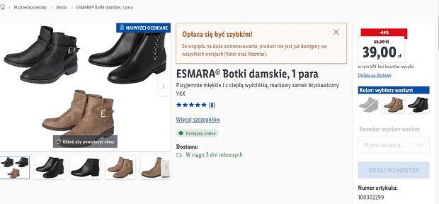 Lidl sprzedaje hitowe botki za mniej niż 40 zł. To must have w każdej szafie