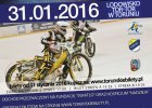 Mistrzostwa Torunia w speedway'u na lodzie. Jest lista startowa