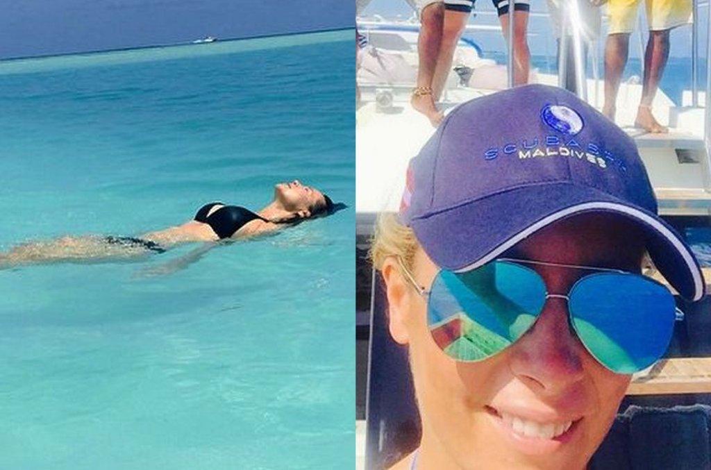 Kinga Rusin i Karolina Ferenstein-Kraśko na Malediwach