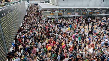 Chaos na lotnisku w Monachium