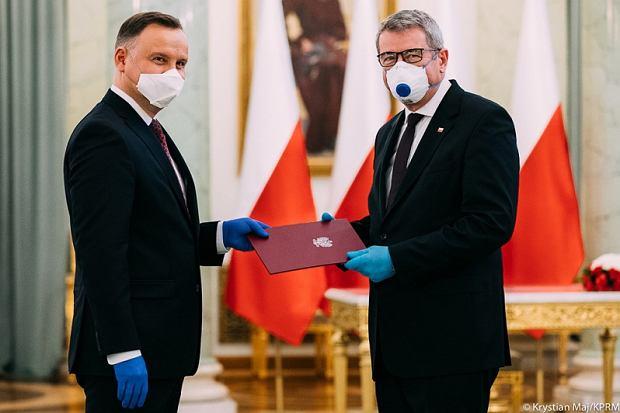 Prezydent Andrzej Duda i minister nauki i szkolnictwa wyższego Wojciech Murdzek