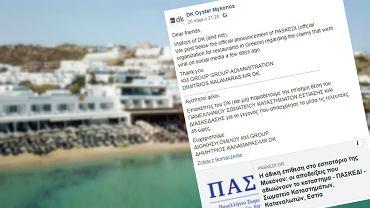 Grupa turystów z USA za obiad w greckiej restauracji zapłaciła równowartość 3600 zł