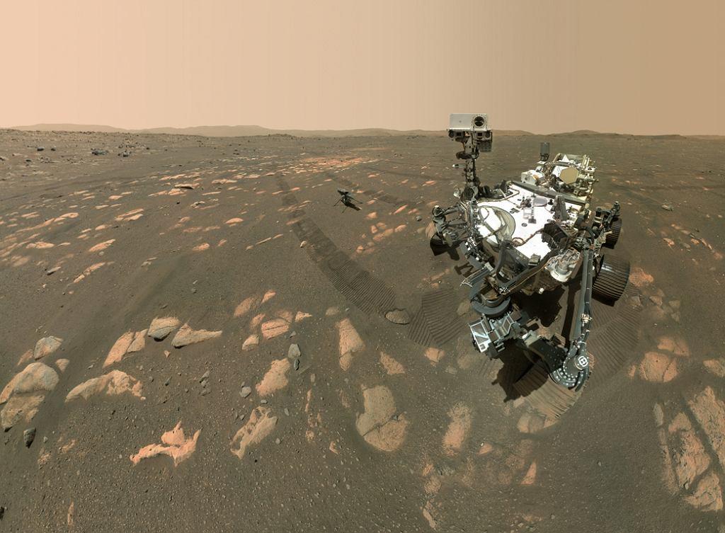 Perseverance zrobił na Marsie selfie z dronem Ingenuity