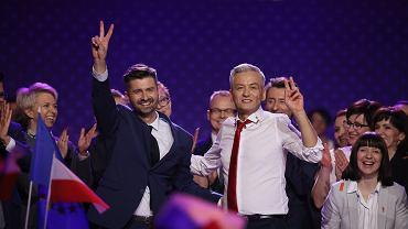 Robert Biedroń i Krzysztof Śmiszek na konwencji Wiosny