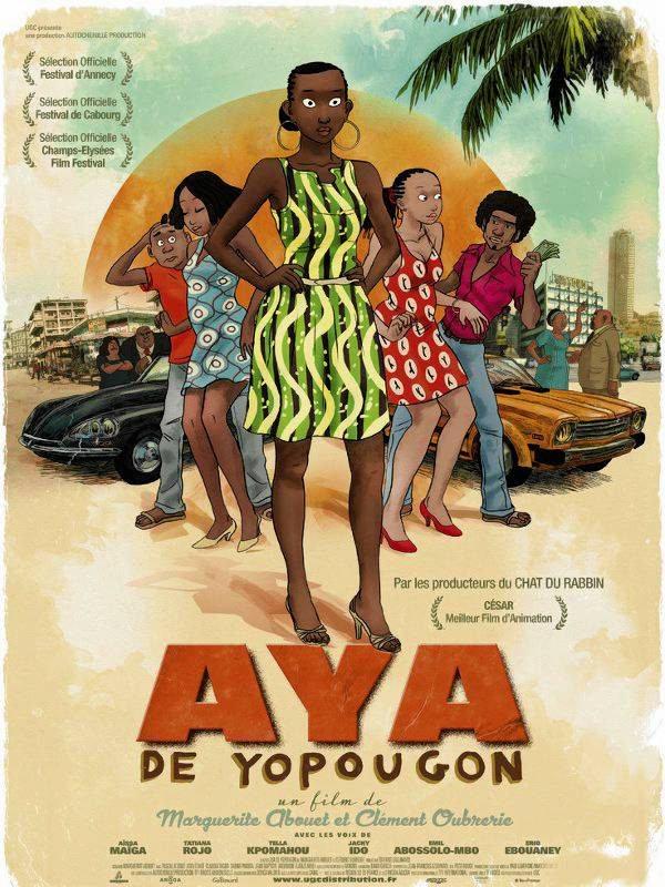 Plakat filmu 'Aya z Yopougon', reż. Marguerite Abouet, Clément Oubrerie, Francja / Mat. prasowe