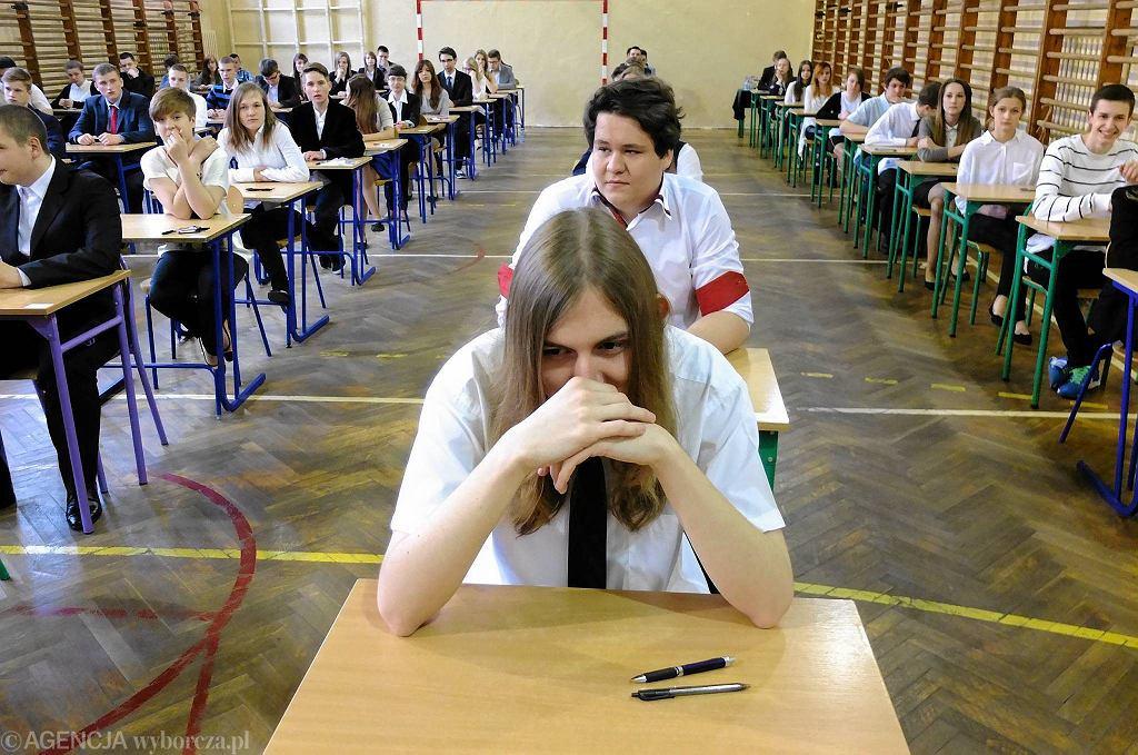 Egzamin gimnazjalny w płockim G 6