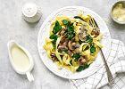 Makaron z pieczarkami - proste i smaczne danie na obiad
