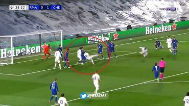 Bramka Karima Benzemy w meczu Real Madryt - Chelsea